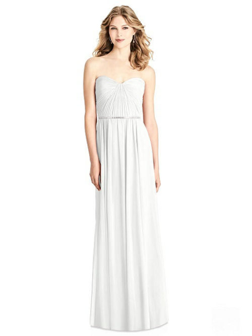 Brooklyn White Bridesmaids Dress by Dessy