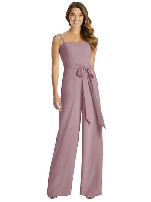 Alana Jumpsuit by Dessy - Dusty Rose