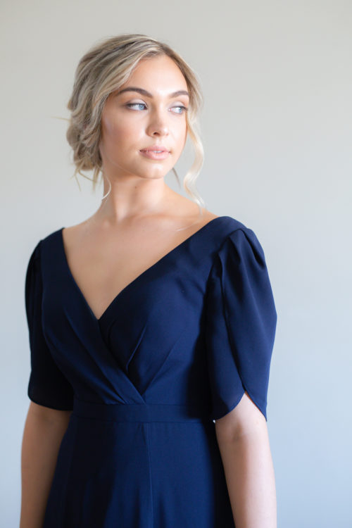 Cara Bridesmaids Dress by Talia Sarah in Navy Blue