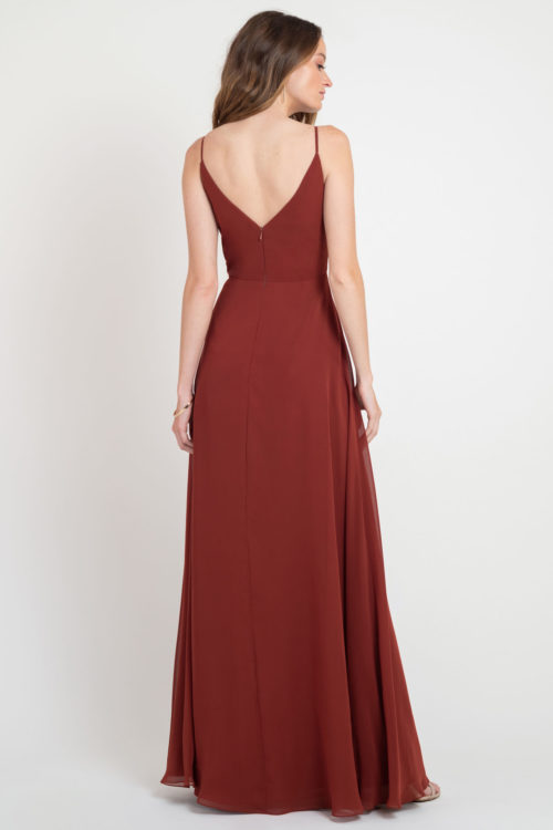 Jenny Yoo Colby Bridesmaids Dress in Rust