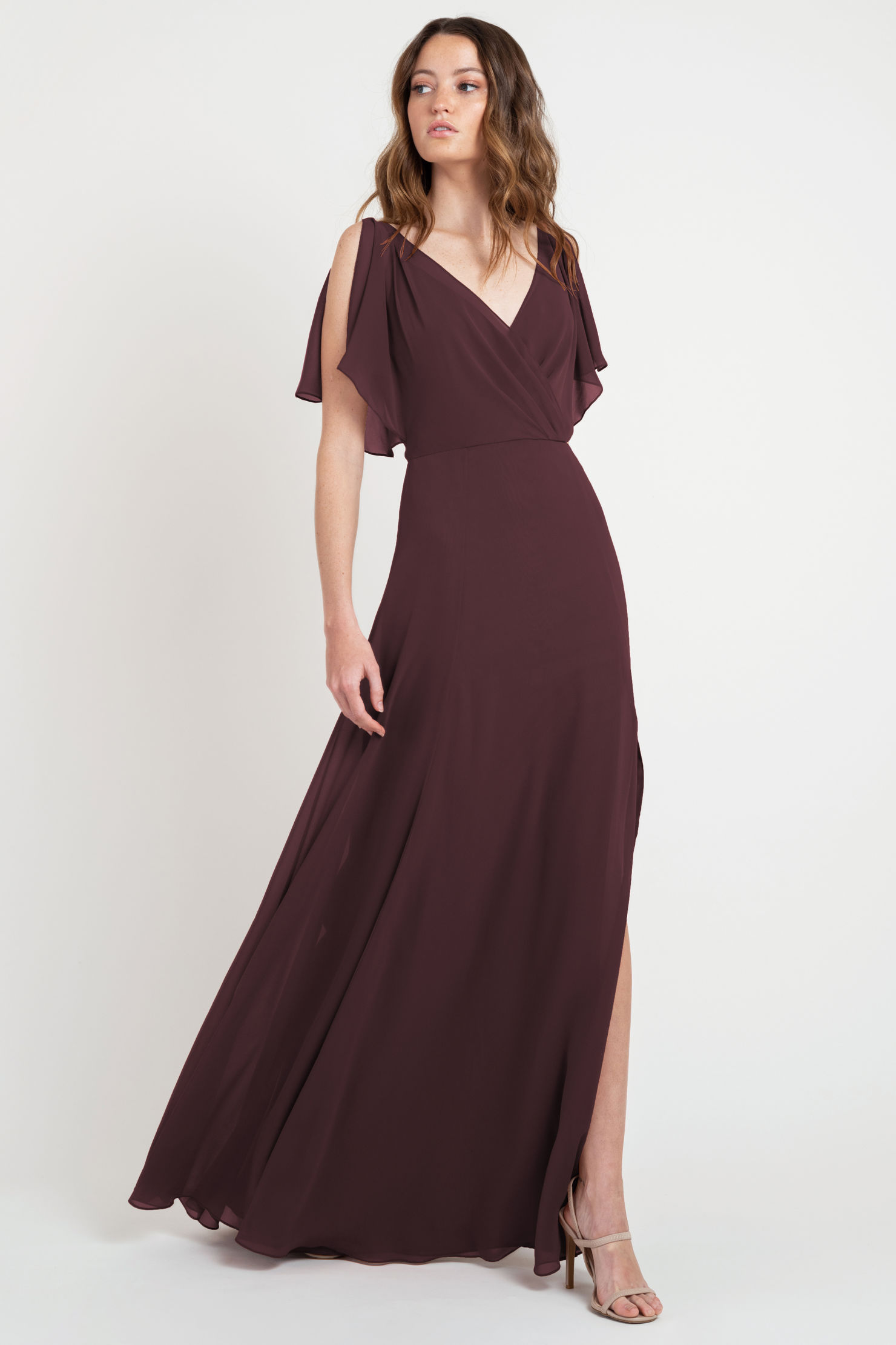Hayes Bridesmaids Dress by Jenny Yoo - Mahogany