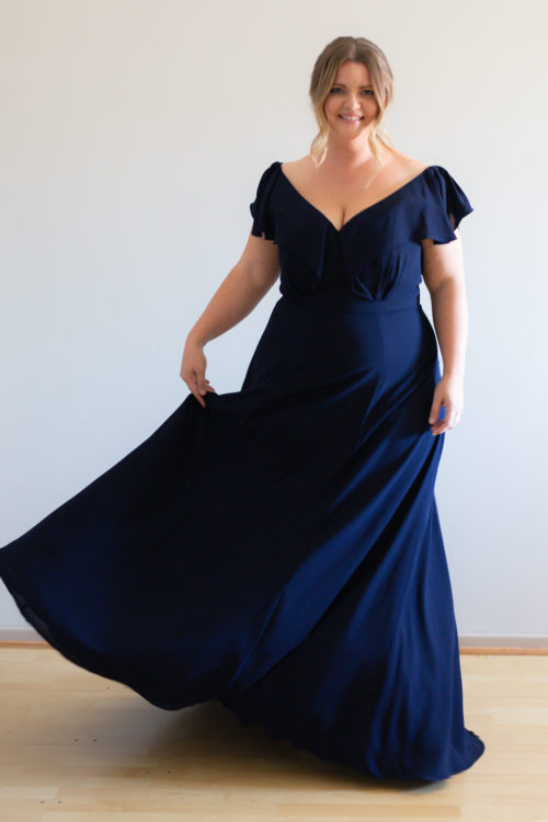 Hayley Bridesmaids Dress by Talia Sarah in Navy Blue