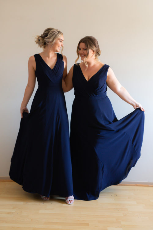 Katja Bridesmaids Dress by Talia Sarah in Navy Blue
