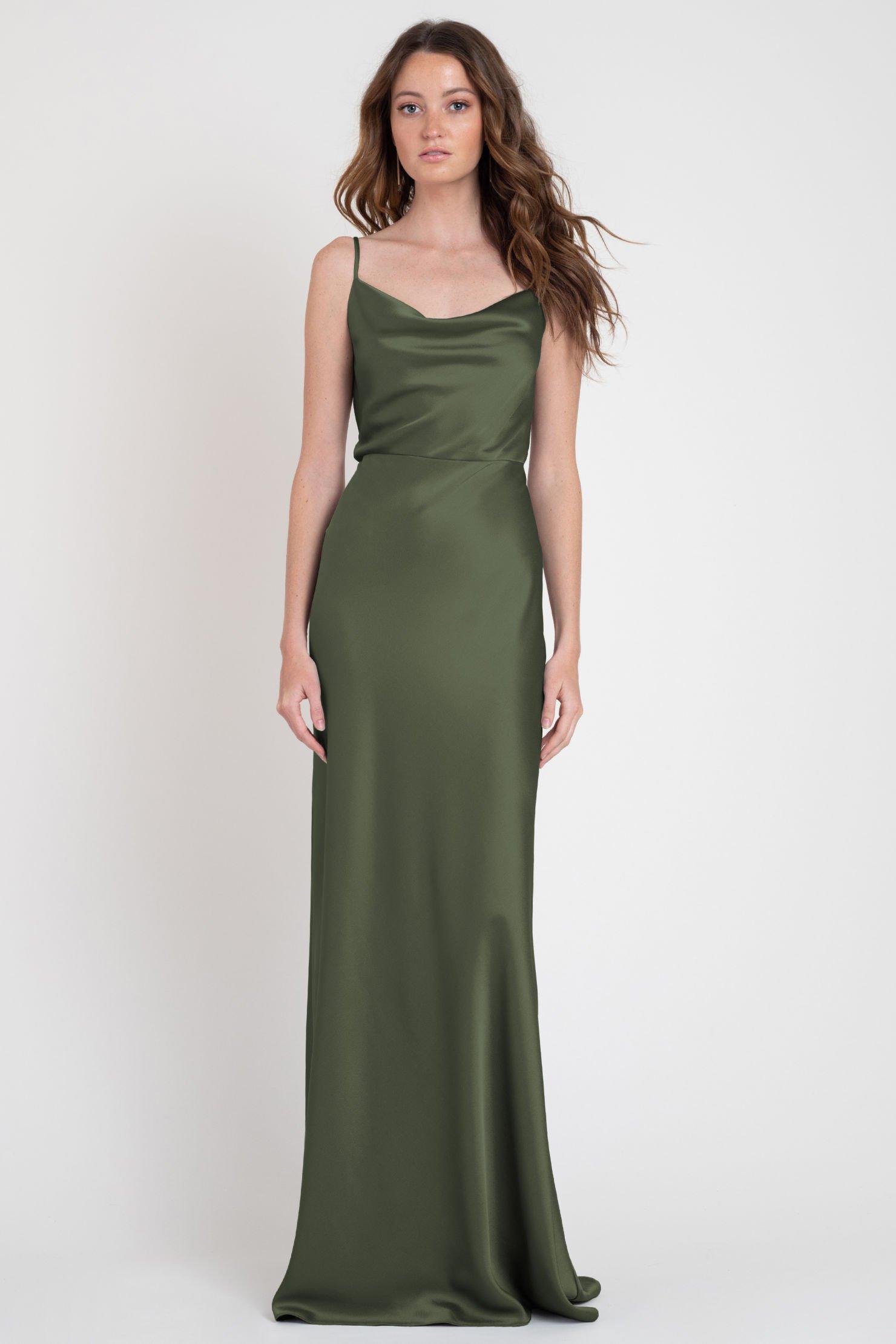 Sylvie Bridesmaids Dress by Jenny Yoo - Olive Green