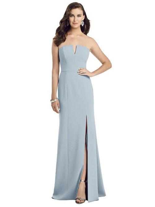 Allie Mist Blue Bridesmaids Dress by Dessy