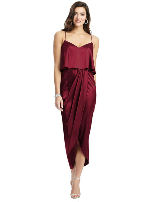 Kenley Burgundy Bridesmaids Dress by Dessy