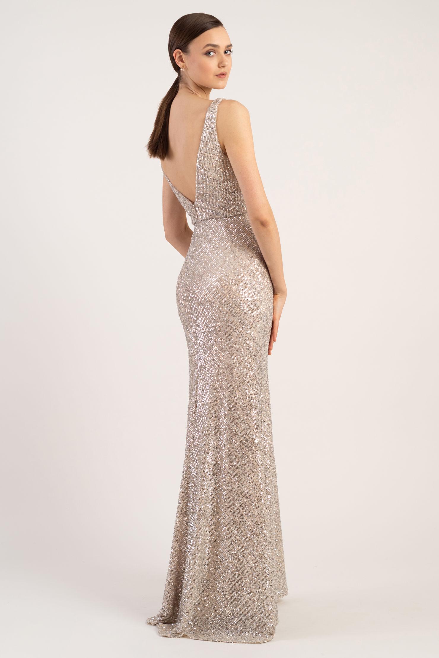 Billie Bridesmaids Dress by Jenny Yoo - Silver