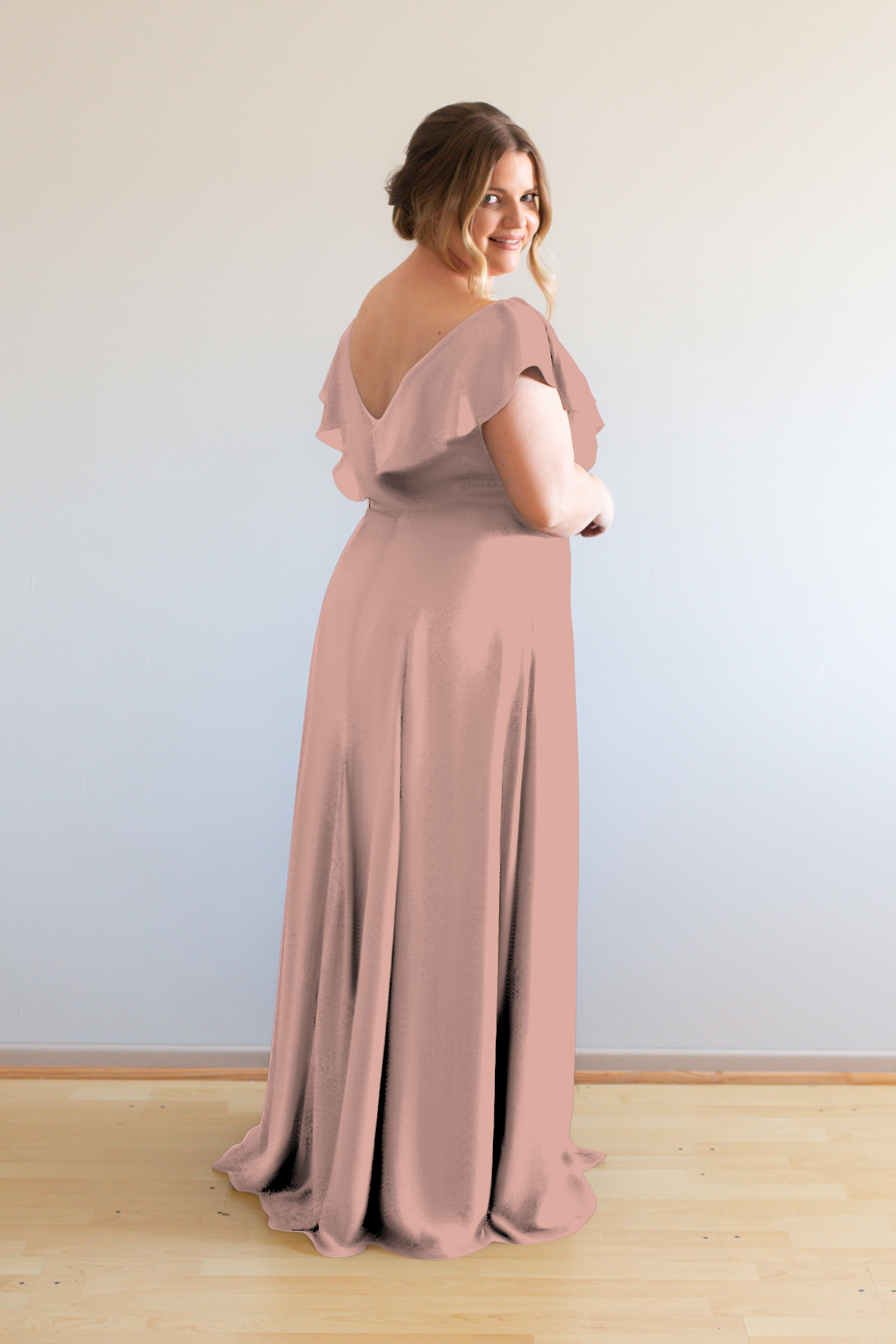 Hayley Bridesmaids Dress by Talia Sarah in French Rose