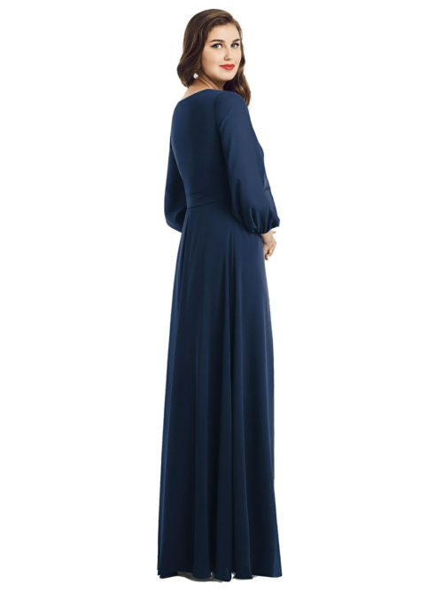 Savon Midnight Blue Bridesmaids Dress by Dessy