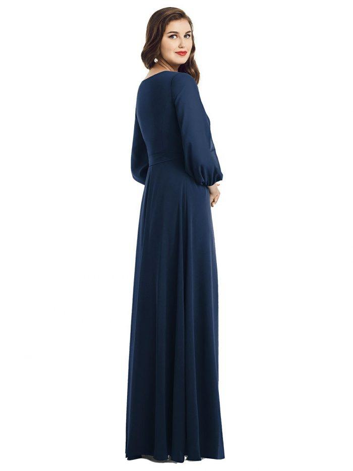 Savon Midnight Blue Bridesmaids Dress by Dessy