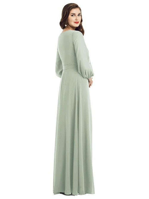 Savon Willow Green Bridesmaids Dress by Dessy