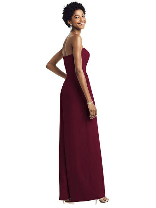 Maya Cabernet Red Bridesmaid Jumpsuit by Dessy