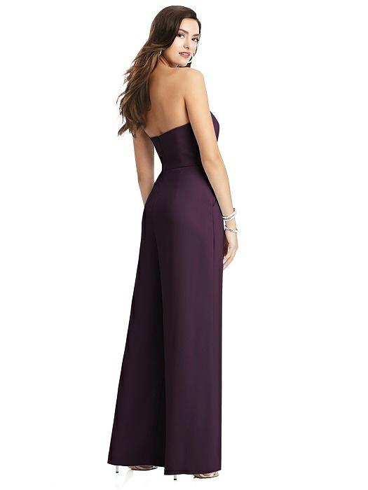 Chantal Aubergine Purple Bridesmaid Jumpsuit by Dessy