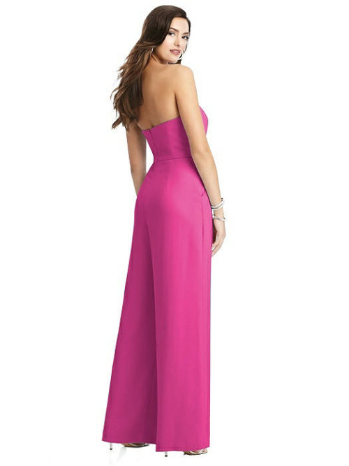 Chantal Pink Fuchsia Bridesmaid Jumpsuit by Dessy