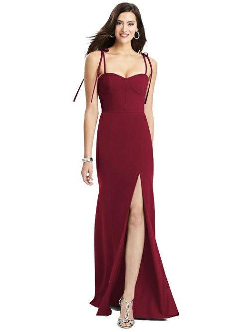 Tati Burgundy Red Bridesmaids Dress by Dessy