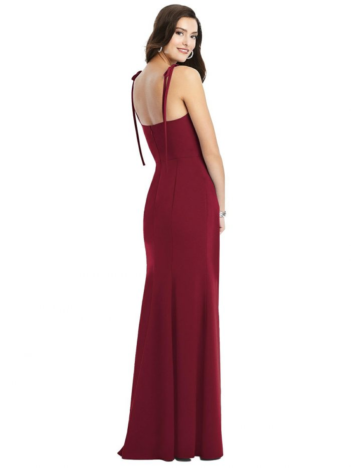 Tati Burgundy Red Bridesmaids Dress by Dessy