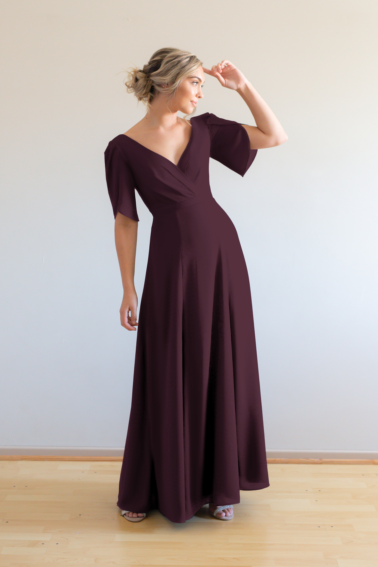 Cara Bridesmaids Dress by Talia Sarah in Berry