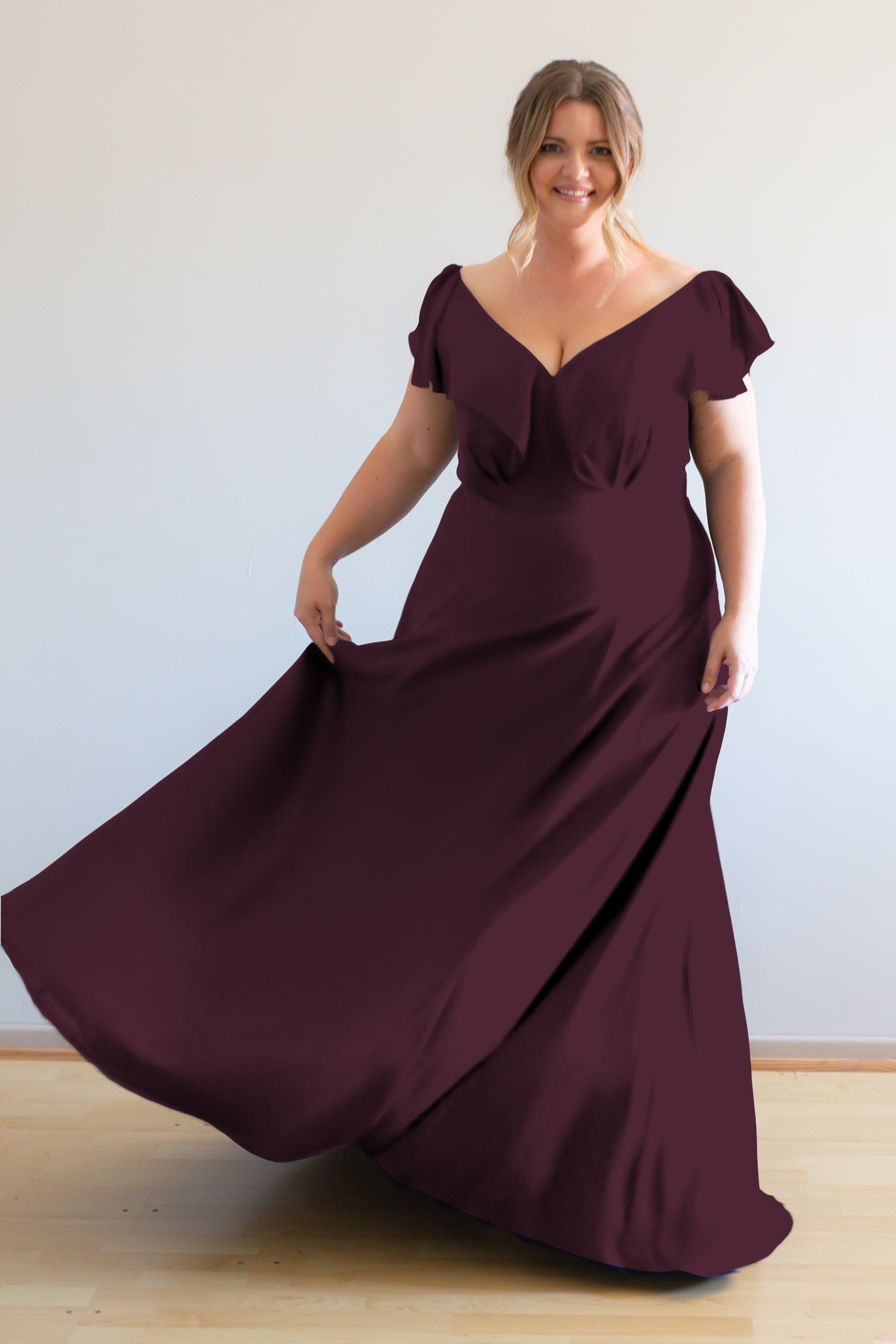 Hayley Bridesmaids Dress by Talia Sarah in Berry