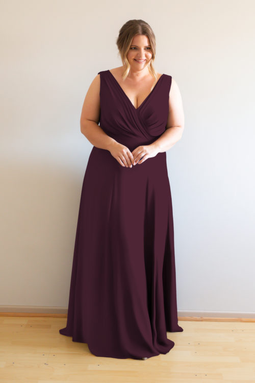 Katja Bridesmaids Dress by Talia Sarah in Berry