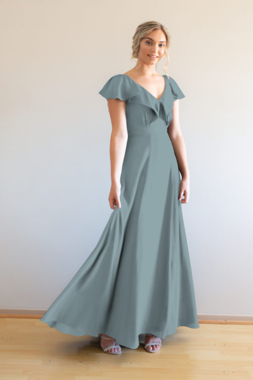 Hayley Bridesmaids Dress by Talia Sarah in Dusty Blue