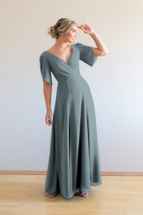 Cara Bridesmaids Dress by Talia Sarah in Dusty Blue