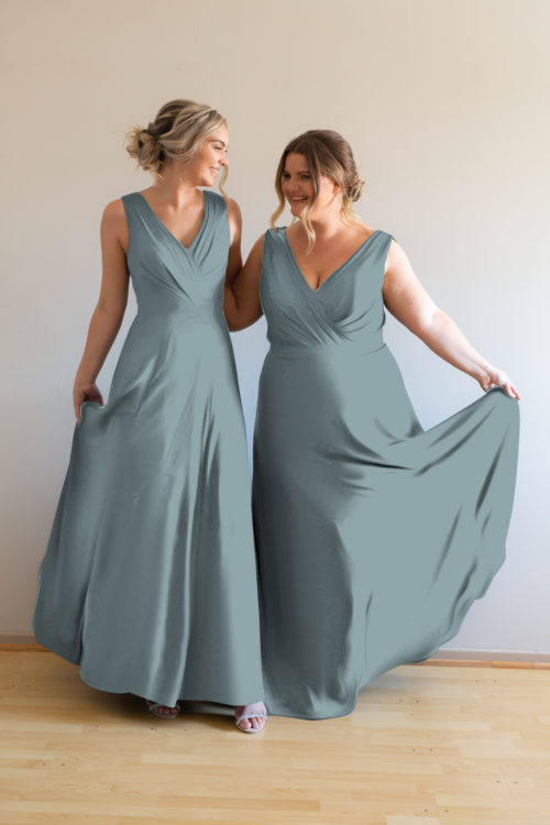 Katja Bridesmaids Dress by Talia Sarah in Dusty Blue