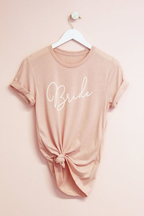 Bride T-Shirt in Blush