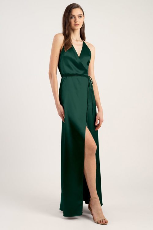 Lana Bridesmaids Dress by Jenny Yoo - Emerald Green
