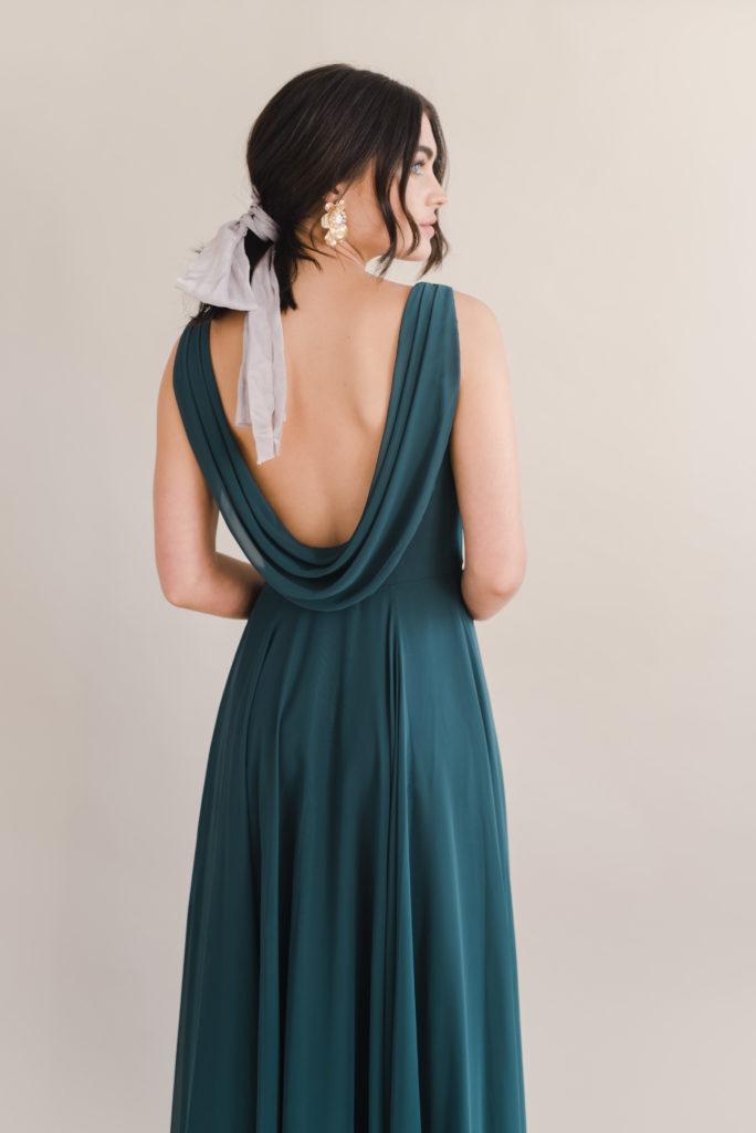 Athena Bridesmaid Dress by TH&TH - Emerald Green