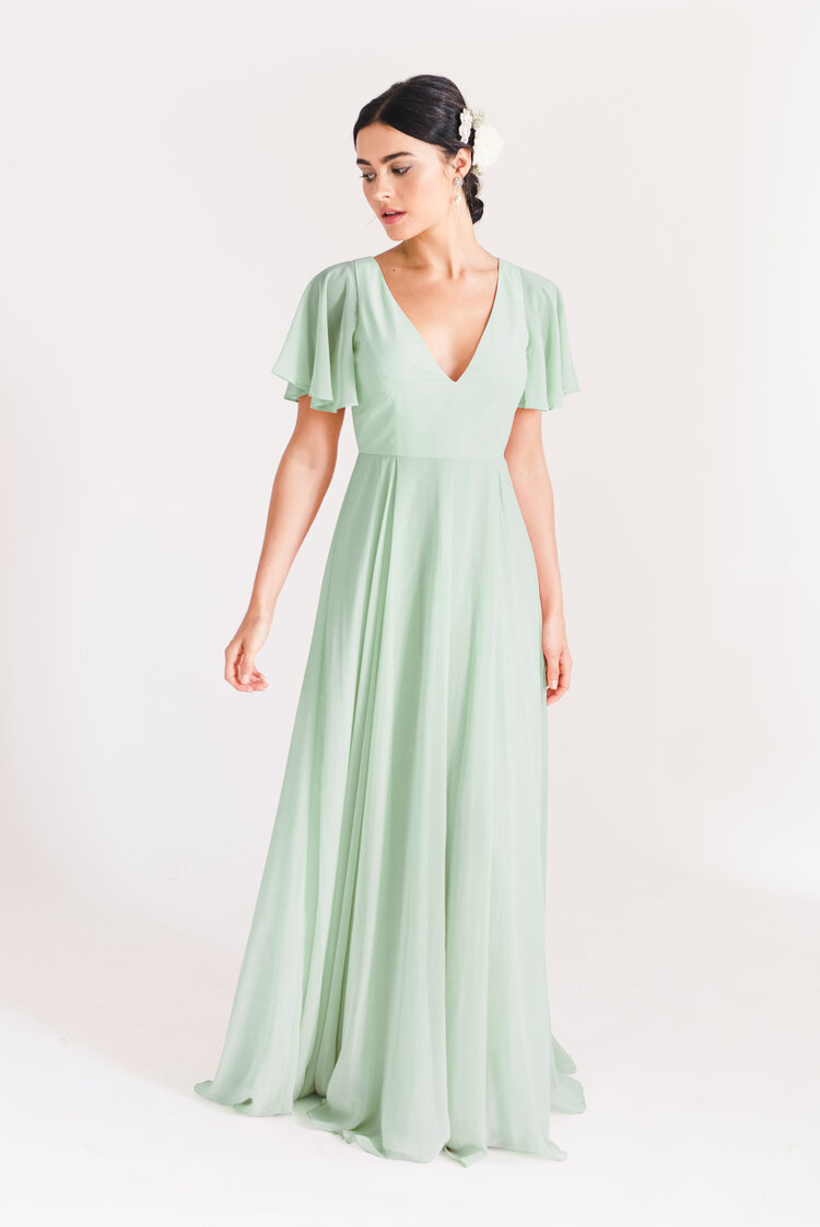 Phoebe Bridesmaid Dress by TH&TH - Pistachio Green