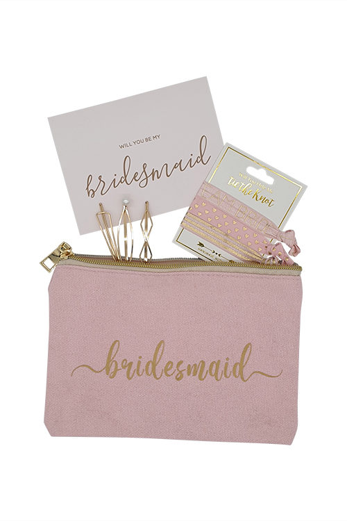 Help Me Tie The Knot Bridesmaid Proposal Gift in Blush Pink