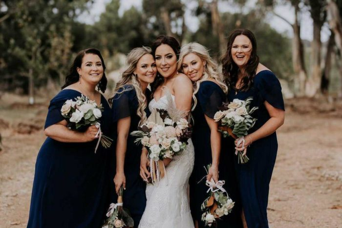 Bianca Bridesmaids Only Wearing Zara in Navy