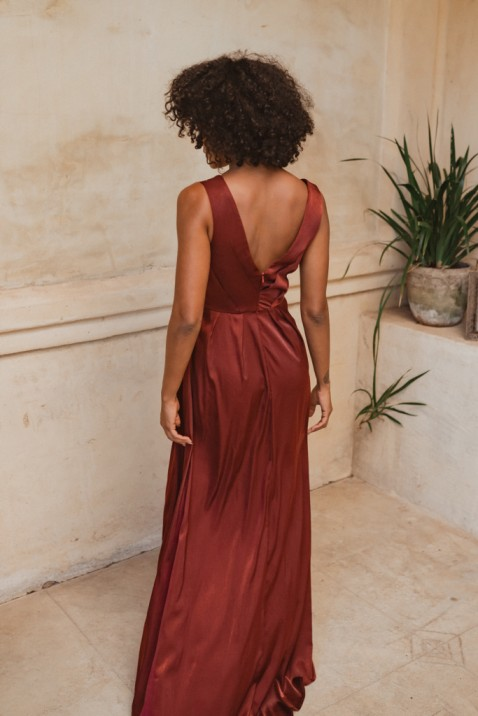 Athens Bridesmaid Dress by Tania Olsen - Wine Red