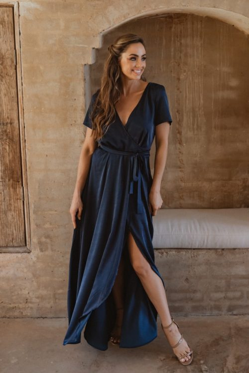Chester Bridesmaid Dress by Tania Olsen - Navy Blue