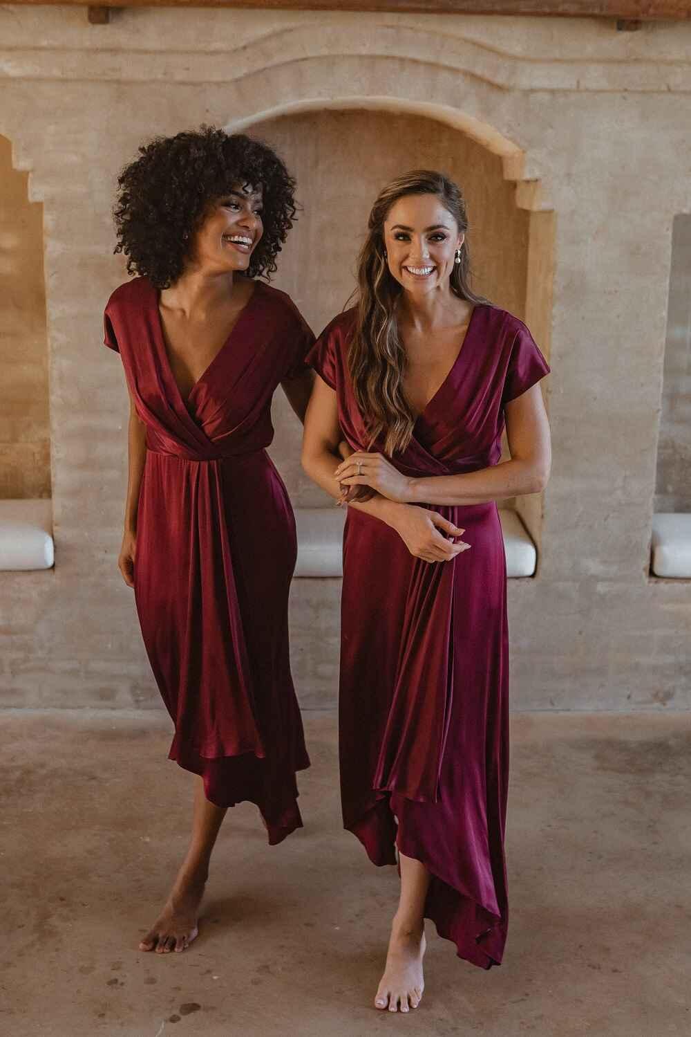 Napier Bridesmaid Dress by Tania Olsen - Wine Red