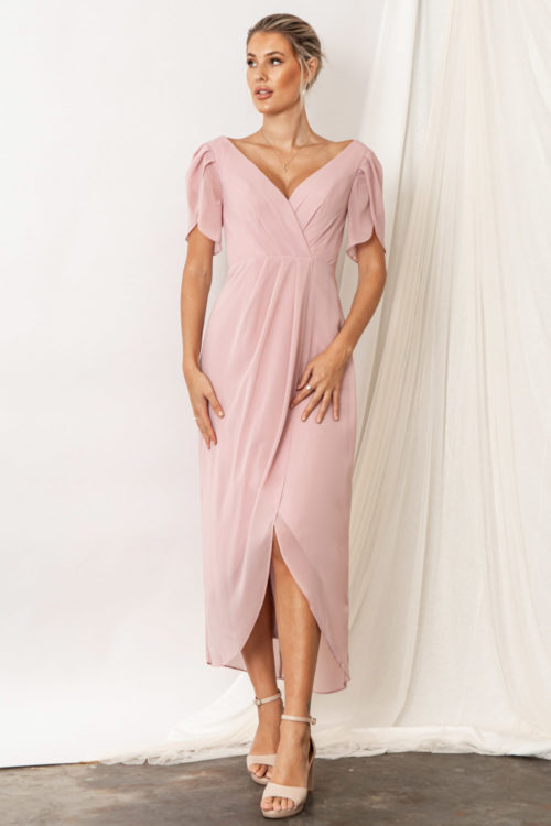 Zara Blush Pink Bridesmaid Dresses by Talia Sarah