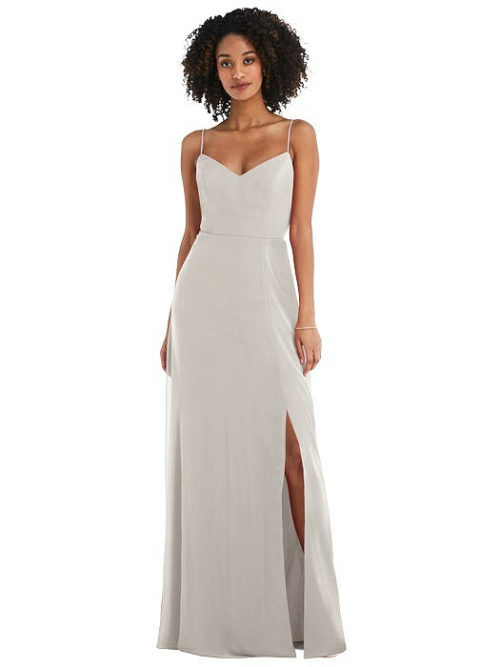 Ashleigh Oyster Bridesmaids Dress by Dessy