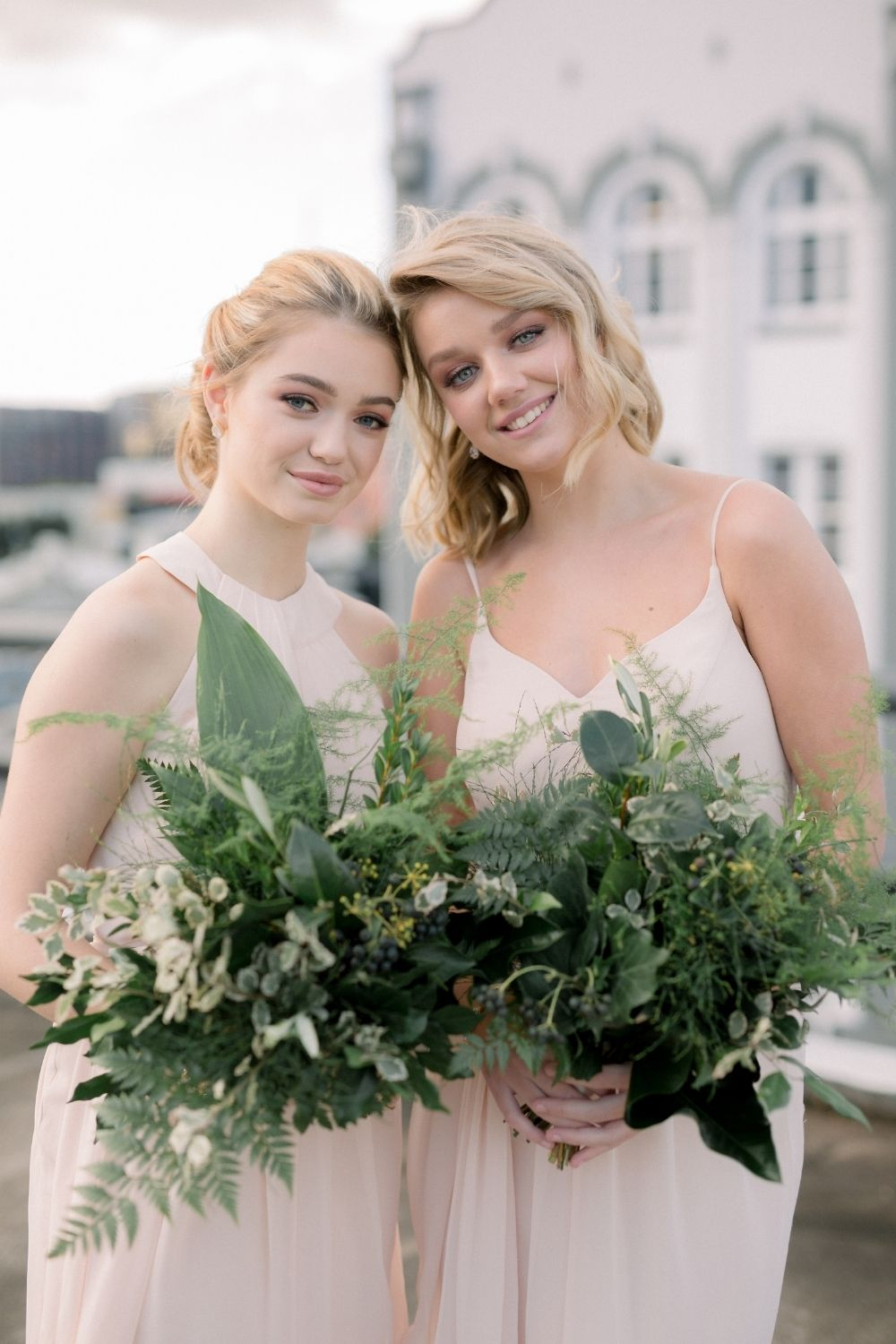 Real Bridesmaid Inspiration Chloe and Mila in Blush Pink by Bridesmaids Only