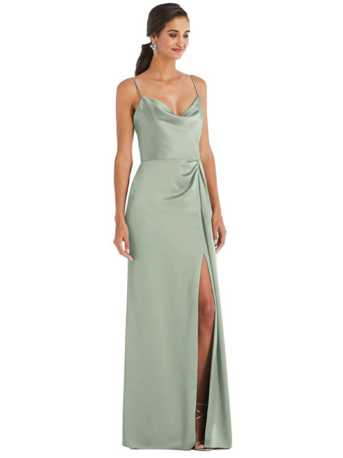 Brooklyne Willow Green Bridesmaids Dress by Dessy